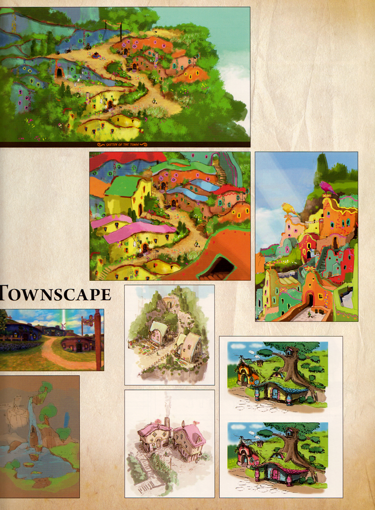 Hyrule Historia Skyward Sword Townscapes