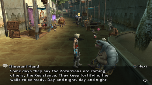 Itinerant Hand from Final Fantasy XII Dialog 1
