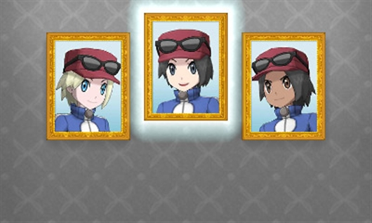 Pokémon XY Trainer Select Screen