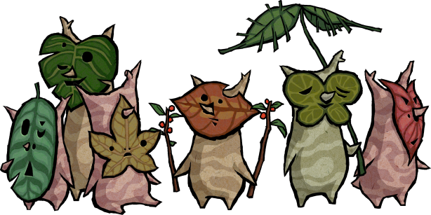 Koroks from The Wind Waker