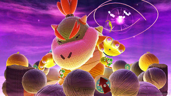 Yoshi's Woolly World Bowser Fight