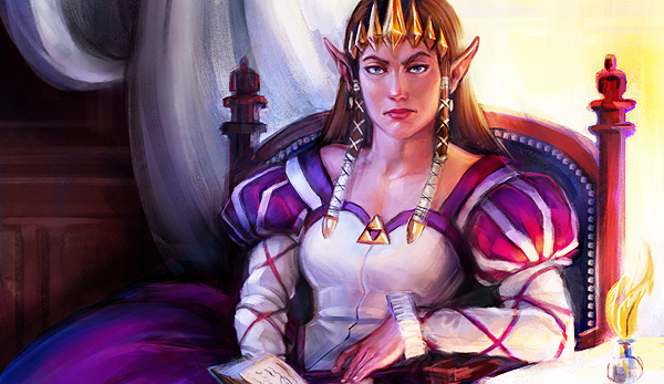 A Tale of Two Rulers Zelda Portrait by Lorraine Schleter