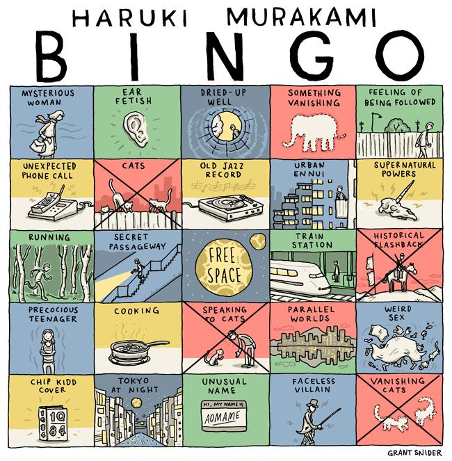 Haruki Murakami Bingo